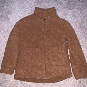 Brown fluffy jacket